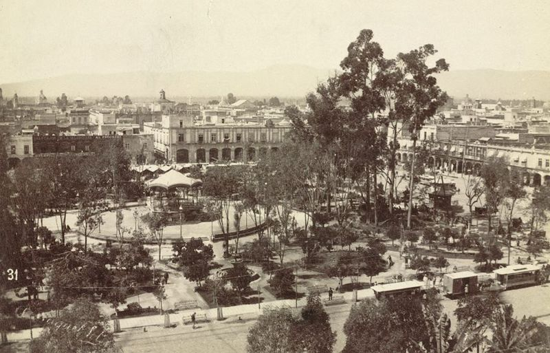 Zocalo during the end of the 19th Century.