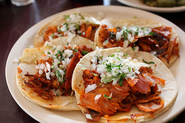 Traditional tacos al pastor