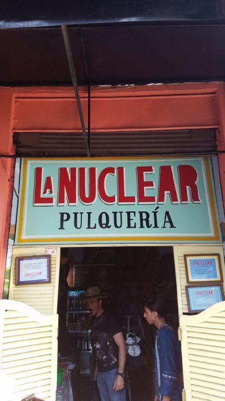 Entrance to La Nuclear Pulqueria