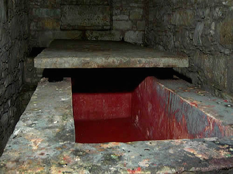 The sarcophagus of the Red Queen