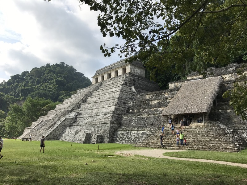 Temple of Inscriptions at Palenque Today