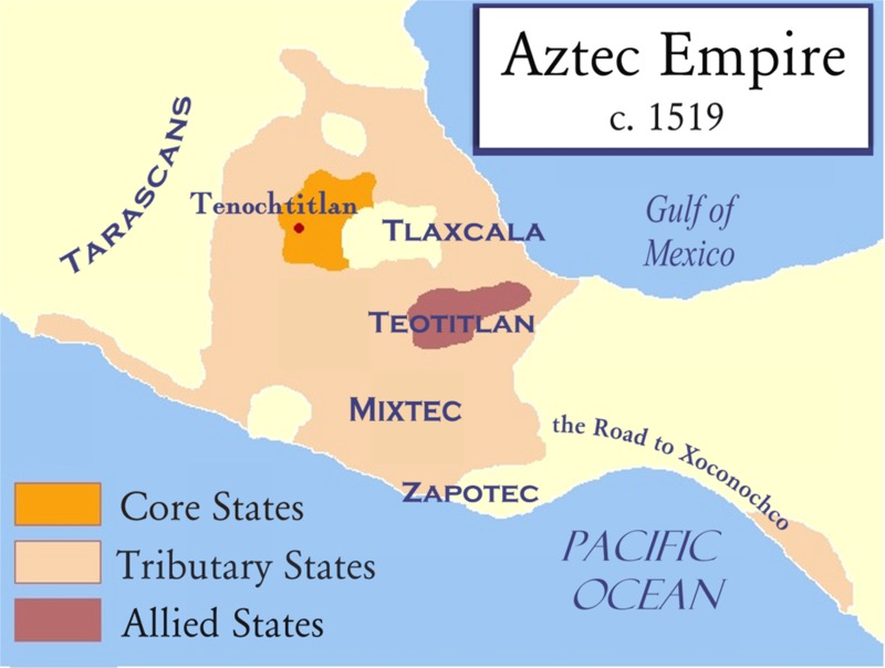 Map of Mexica Empire in 1519