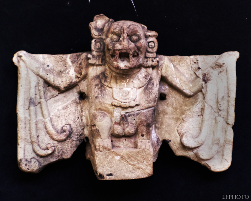 Ancient statue of Camazotz